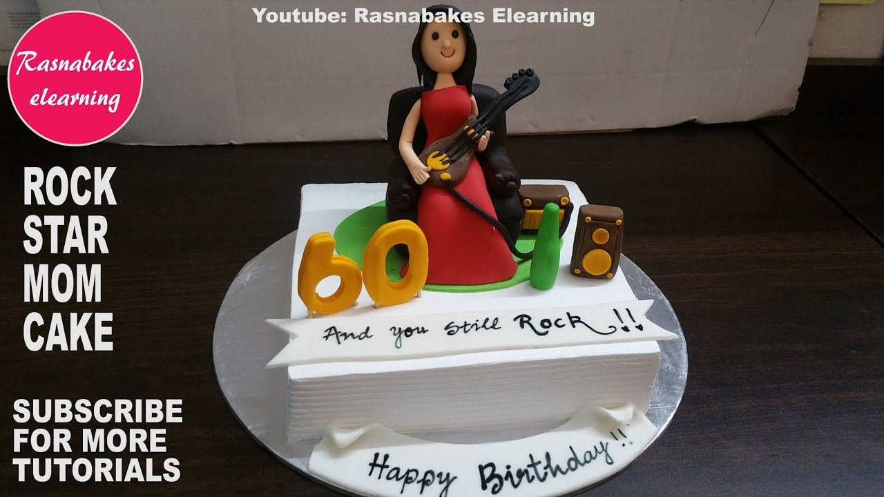 How To Make Rock Star Mom Birthday Cake Designhomemade Bakery Videos Icing Maker