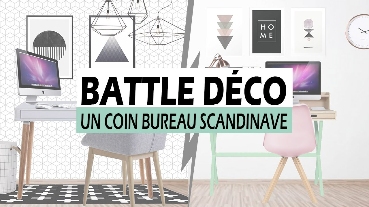 Battle d co un coin bureau scandinave youtube for Deco bureau scandinave