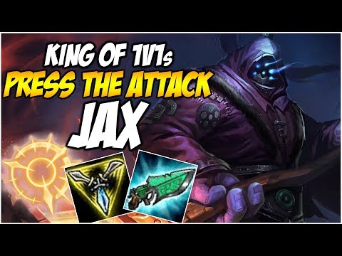 KING OF 1V1s JAX, PRESS THE ATTACK | League of Legends