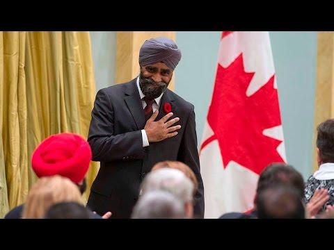 Harjit Sajjan is sworn in