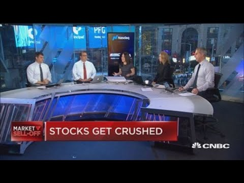 Stocks get crushed as the global meltdown hits home