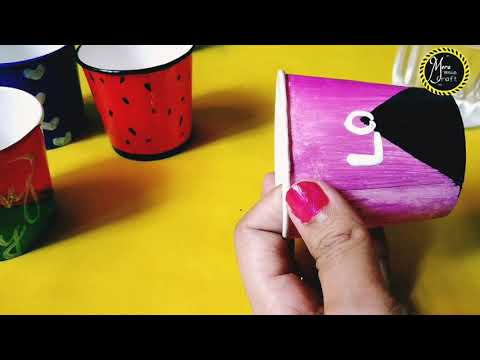 How to make paper plants by mera wala craft/DIY paper plants