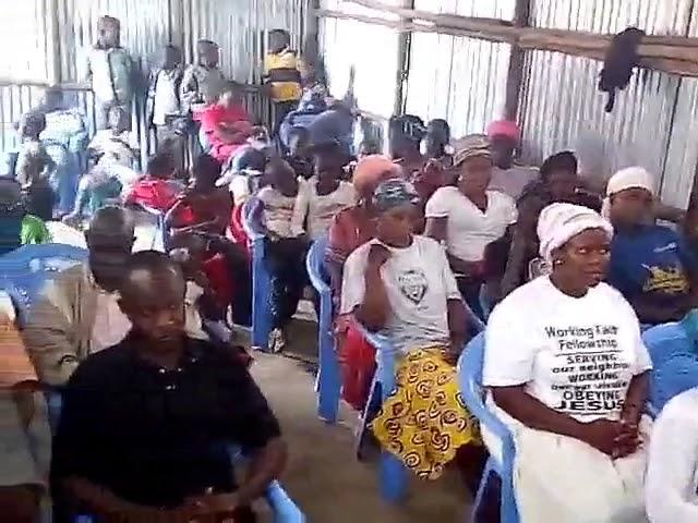 Joseph Preaching WFF Kibera Slum 4 1 2018