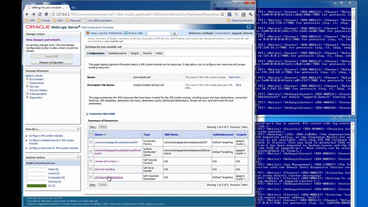 Highly Available JMS with WebLogic: Store and Forward