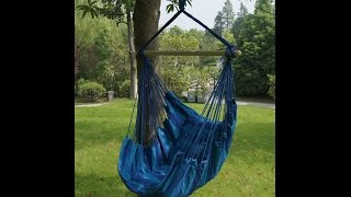 SueSport Hanging Rope Chair -Max.265 Lbs, Blue