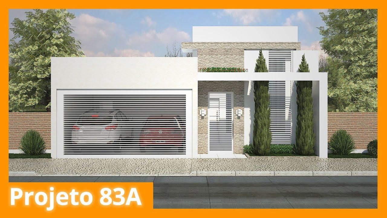 Planta De Casa Térrea Com Suite E Closet 83a