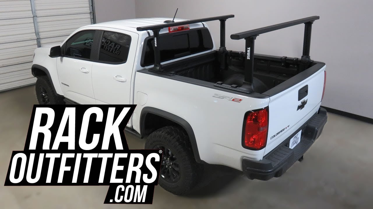 chevrolet colorado zr2 with thule black xsporter pro truck bed rack