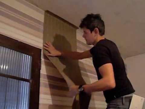 Como aplicar papel de parede youtube for Papel para empapelar paredes precios