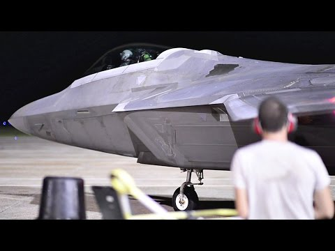 F-22 Night Operations At Tyndall Air Force Base