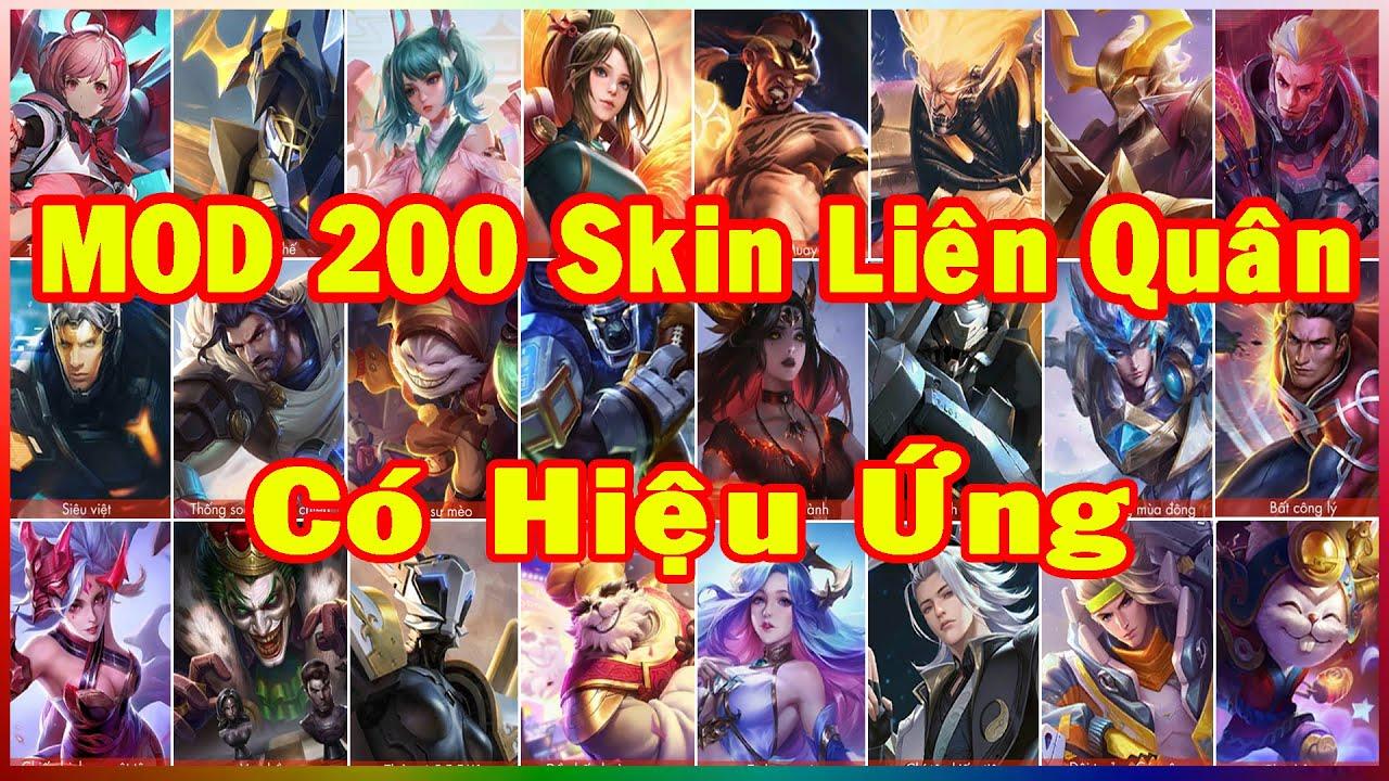 Hướng Dẫn MOD 200 Skin Liên Quân Có Hiệu Ứng Mới Nhất Phiên Bản Cờ Nhân Phẩm