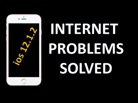 Solution of ios 12.1.2 internet problem of iPhone ! 100% working
