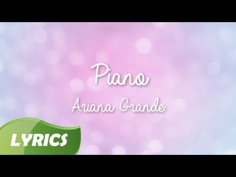 Ariana Grande - Piano ♬ Studio Version (Lyric Video)