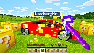 Opening SUPERCAR LUCKY BLOCKS In Minecraft!