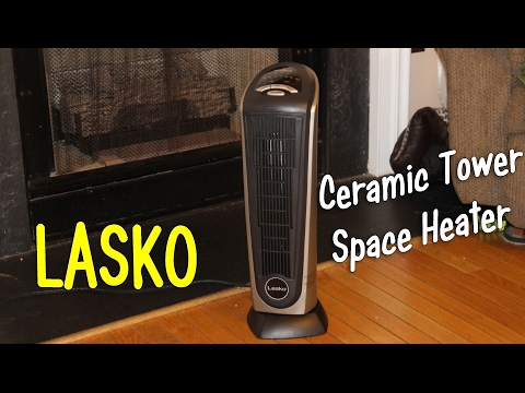 Lasko Ceramic Tower Space Heater W Remote Control Product Review Youtube