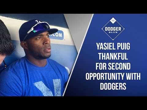 Yasiel Puig Thankful For Second Opportunity With Dodgers