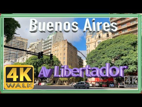 【4K】WALK Buenos Aires 2019 Explore LIBERTADOR Walking Tour, Documental
