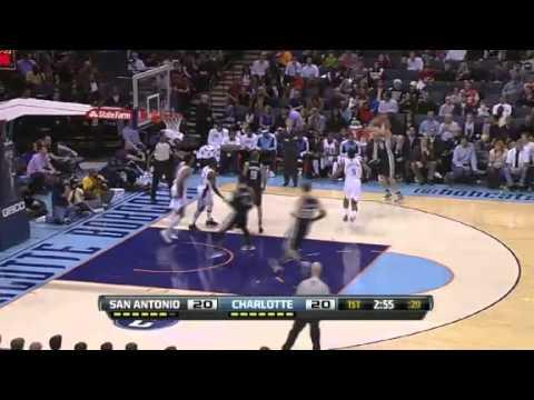 San Antonio Spurs vs. Charlotte Bobcats Full Highlights 8 December 2012