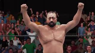 Xbox One版WWE 2K18にて作成した、ラッシャー木村の雄姿。 詳細は本ブロ...