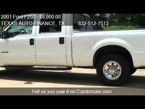 2001 Ford F250 XLT Crew Cab Short Bed 2WD - for sale in Hous