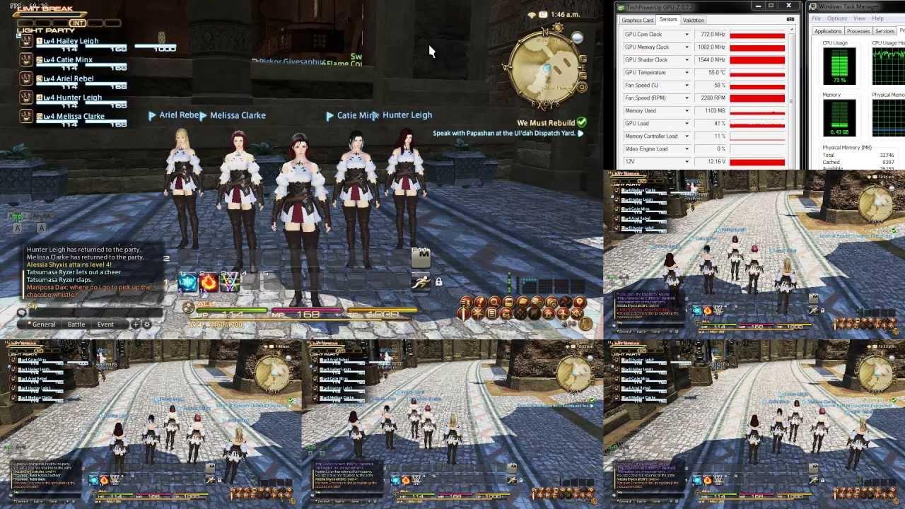 Final Fantasy XIV - First Look At Multiboxing