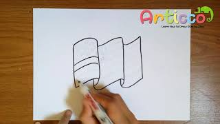 How to Draw The American Flag Step by Step for Kids