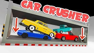 The BEST Mod EVER! The Car CRUSHER Smashes Everything! - BeamNG Drive Car Crusher Mod