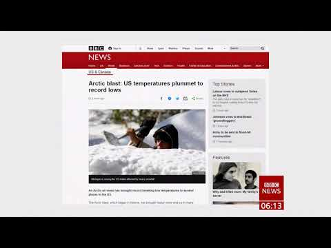 Weather Events 2019 – Arctic blast – record low temperatures (USA) – BBC – 13th November 2019