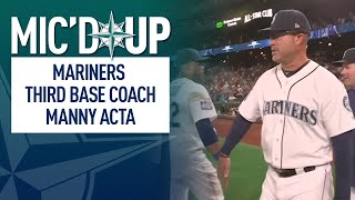 Video Mic'd up with Mariners third base coach Manny Acta download MP3, 3GP, MP4, WEBM, AVI, FLV September 2018