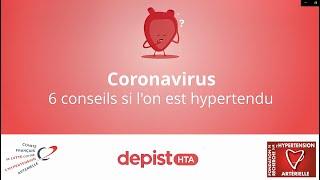 Coronavirus   6 Conseils En Cas D'hypertension Artérielle