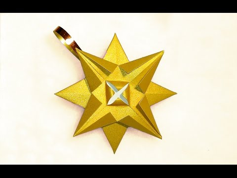 Easy 3d Paper Star Ornament House Decor Diy Star