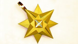 Easy 3d Paper Star - Ornament. House Decor. Diy Star Ceiling - Glitter Ceiling