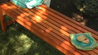 Rorick 5 Ft  Wood Backless Bench - Product Review Video