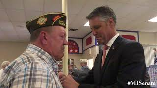Sen. Proos hosts Cassopolis Vietnam veteran lapel-pinning ceremony