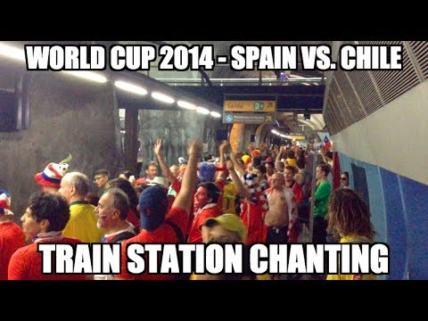 World Cup 2014 - Singing Fans @ Brazilian Metro before Spain vs. Chile
