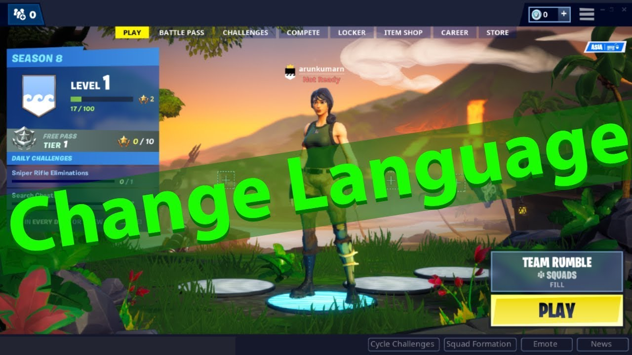 How To Change The Language On Fortnite From Chinese To ...