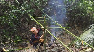 Got stuck in the heavy rain in the tropical forest, Wilderness Life | ep 16
