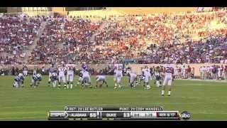 2010 #1 Alabama vs. Duke (HQ)