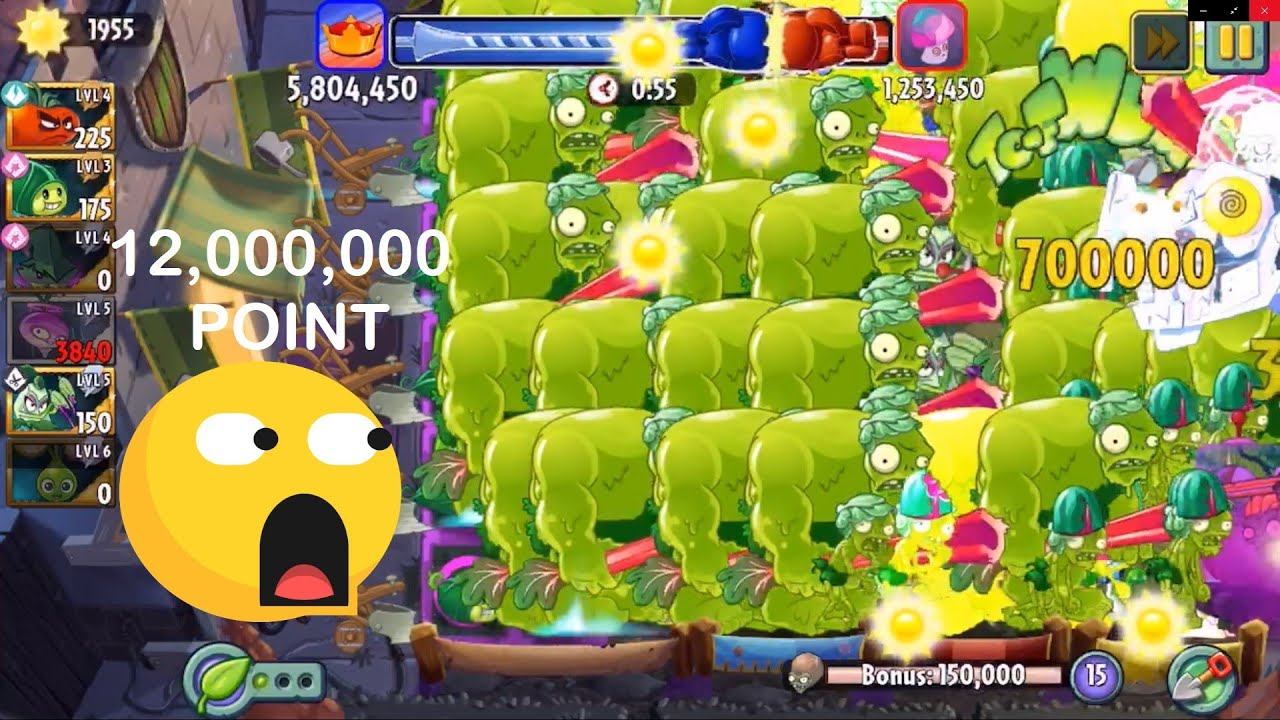 [Surprise to Shock] Plants vs. Zombies 2 - How to win with over 12 000 000 points | Super Battle