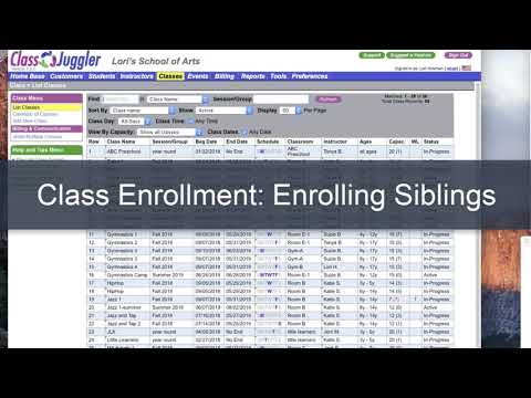 Student Enrollment – How to enroll a student in a class