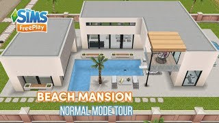 Sims Freeplay Modern House Design and House Tour Beach Mansion in Normal Mode YouTube