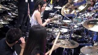 NAMM 2012 - ALEXEY and Veronica Bellino (Drummer of Jeff Beck)
