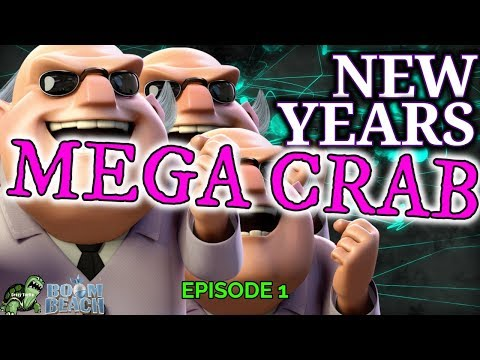 NEW YEARS MEGA CRAB -  Episode 1 - Stages 1-42 (ALMOST ALL SOLOS) - Dec 2018 Boom Beach Mega Crab