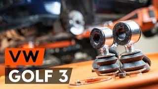 Hoe een voorste stabilisatorstang vervangen op een VW GOLF 3 1H1 [HANDLEIDING AUTODOC]
