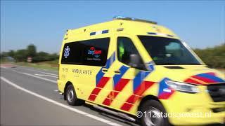 Ambulance 19-135 met spoed vanuit Westkapelle