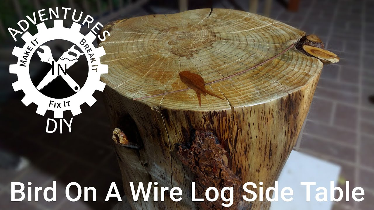 Make A Bird A Wire Log Side Table
