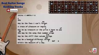 She - Elvis Costello Guitar Backing Track with scale, chords and lyrics