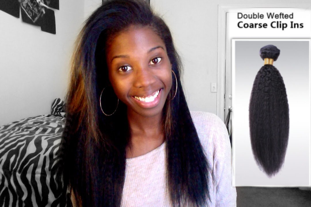 Review Owigs Coarse Indian Remy Clipin Hair Extensions Youtube