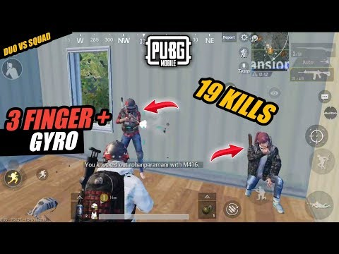 PUBG MOBILE GAMEPLAYS: PUBG MOBILE 3 FINGER CLAW +GYRO LAYOUT / SATUP