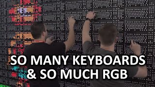 18400 RGB LEDs, 160 keyboards, 30 fps, 1 wall - #GreatWallofLogitechG, PAX East 2016