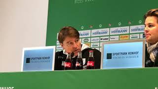 Pressekonferenz SpVgg Greuther Fürth gegen 1. FC Magdeburg 3:2 (1:1)